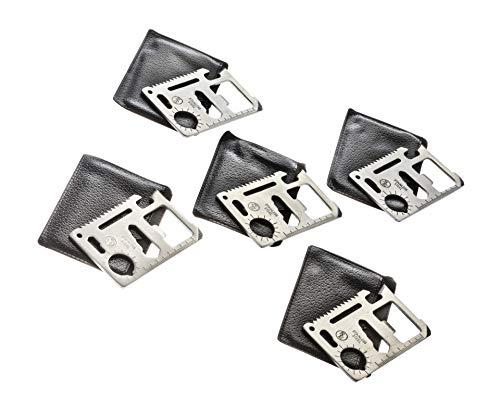 SE 11-Function Stainless Steel Survival Pocket Tools (Pack of 5) - MT908-5