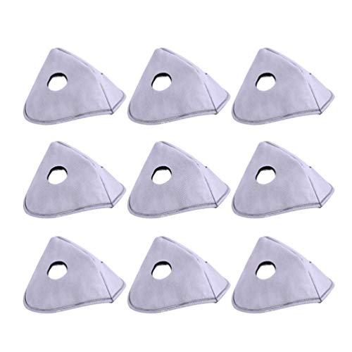 Exceart 10 Stück Mundfilteratmung Aktivierter Filter Luftatmungsfilter Gewebefilter Gesichtsabdeckungseinsatz für DIY Handmade Mundschutz
