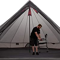JUSTCAMP Bell tipi tent for groups, family, camping, sizes: 6, 8, 10, 12 persons