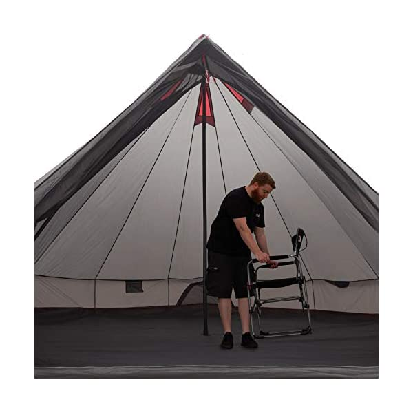 JUSTCAMP Bell tipi tent for groups, family, camping, sizes: 6, 8, 10, 12 persons 1