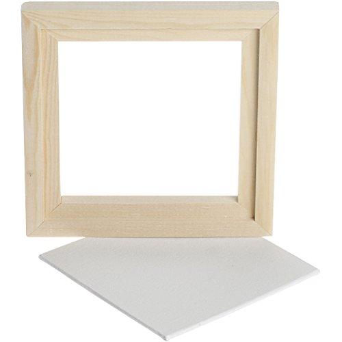 Canvas platen met schaduwframe, Au?enma?e 15,2 cm, canvas 12,4 x 12,4 cm, 1 stuks.
