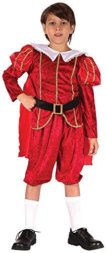 Bristol Novelty CC302 Costume de Prince Tudor, Taille, Red, Grand