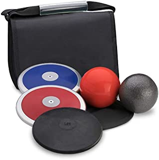 Track Emporium Five Star High School Boy's Discus & Shot Put Value Package. Meets All NFHS Specifications. Competition and Practice Economy Set.