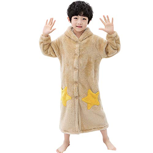 Kid Hooded Robe, Niedliche Sternentasche Junge Mädchen Nachthemd, Weiche Saugfähige...