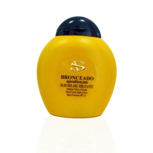 Bronceado, Huile Hydratante et Super Bronzante à la vitamine E, beurre de karité, huile de carotte et brou de noix 200 ML