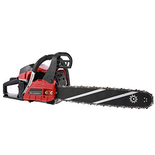 62CC Gas Chainsaws 20-Inch 2-Cycle,2021Chainsaw with 2 Stroke Handed Petrol Chain, Goggles, Gloves and Tool Kit for Cutting, Red