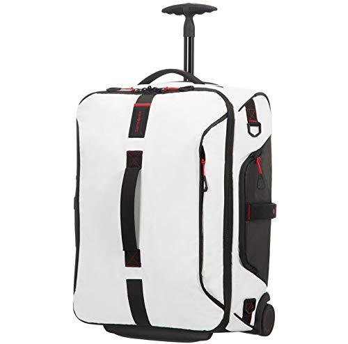 Samsonite Paradiver Light Duffle/WH 55 Backpack,Weiss Rollenreisetasche mit Rucksackfunktion