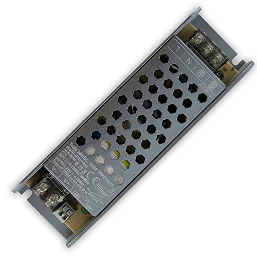 24V LED Trafo dimmbar - 60-200 Watt IP67-24 Volt AC - TRIAC & 0/1-10V - kein Flimmern, kein Rauschen für LED Leuchtmittel und Stripes - Transformator Gleichrichter Driver Netzteil