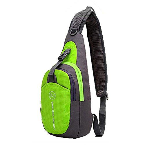 mmrm Nylon Sport Hommes poitrine sac à bandoulière diagonale paquet bandoulière Randonnée Camping Lot vert