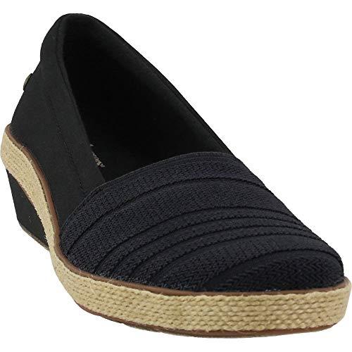Grasshoppers womens Quinn Wedge Canvas Sneaker  Black  8.5 US