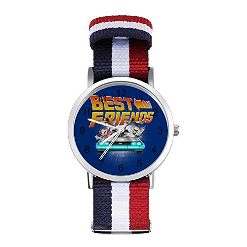 Back to The Future Babies Best Friends Leisure Strap Watches Braided Watch with Scale