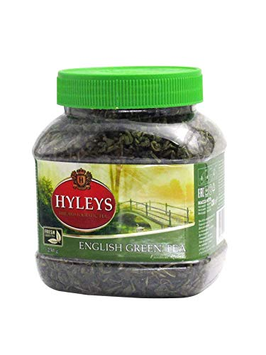 Hyleys English Cheap super special price Aristocratic Green Tea Loose 8.11 Jar oz Inexpensive In Leaf