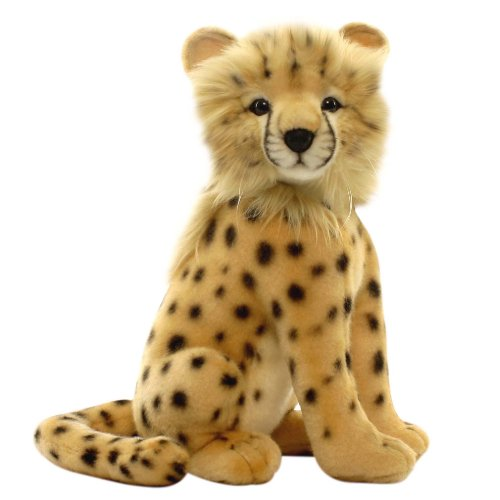 Hansa Cheetah Cub Stuffed Plush Animal, Sitting