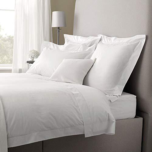 Linens Limited Spannbettlaken - Ägyptische Baumwolle, Fadenzahl 200 - Weiß - für 150 x 200cm