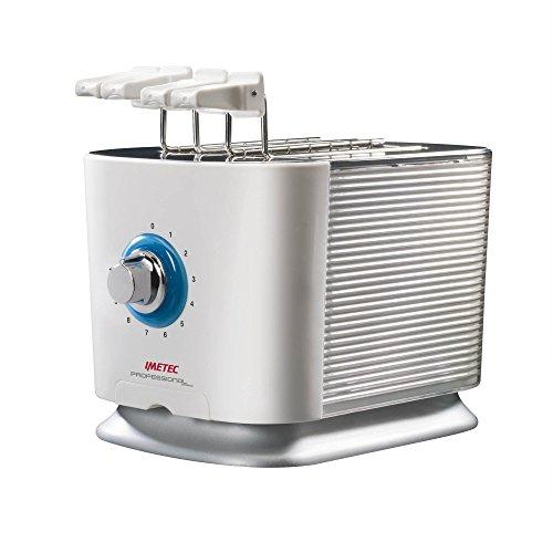 Imetec TS 600 - Tostadora-sandwichera, 600 W, 10 niveles de tostado, color blanco y gris