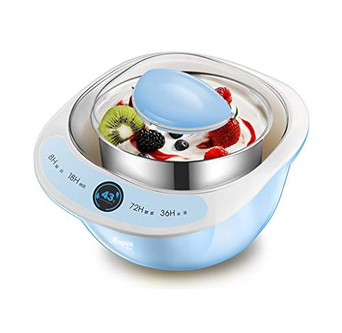 Zrf Elektrische Joghurt Maker Automatische Edelstahl Liner Natto Reis Wein Obst Enzym Fermenter Joghurt Salat Maschine Leben 1L (Blau) (Farbe : #1)