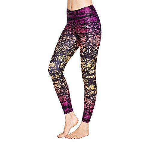 Leggins largos Yoga Capris Coolomg para mujer, de compresión, para hacer deporte, tallas...