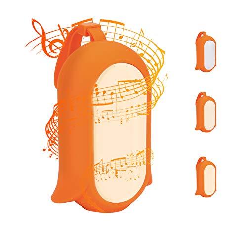Wiederaufladbar LED Nachtlicht Kinder Einschlafhilfe mit 7 Beruhigende Geräusche/ 3 Timer Schallsensor tragbare Sound-Maschine Dimmbar Schlummerlicht für Baby Schlafen Kinderwagen Reisen