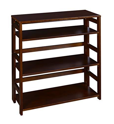 Regency Flip Flop 34-inch High Folding Bookcase- Mocha Walnut