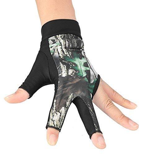 Zerone Billiards Gloves 3-Finger Snooker Pool Cue Glove Billiards Shooters Glove for Men Women(L-Camouflage)
