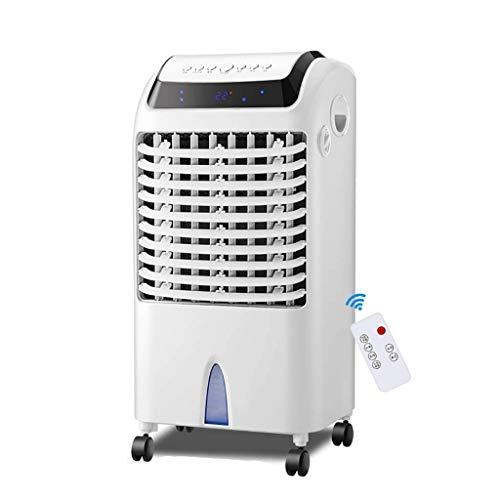 Aire Acondicionado Portatil Refrigerador de aire portátil móvil doméstico, aire acondicionado frío con aire caliente 3 Velocidad del viento 3 Código de la clase eólica Tiempo 5L Tanque de agua Pantall