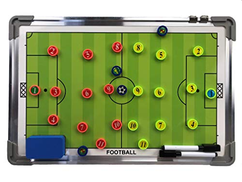 Coaches Vision Soccer Coaching Marker Board - Includes 2 Markers, Magnets and an Eraser