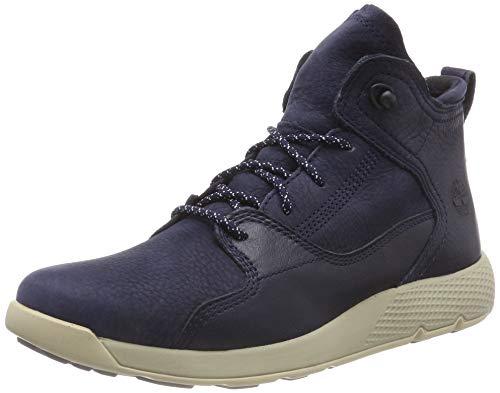Timberland Unisex-Kinder Flyroam Leather Hiker Trekking- & Wanderhalbschuhe, Blau (Navy Nubuck P01), 36 EU