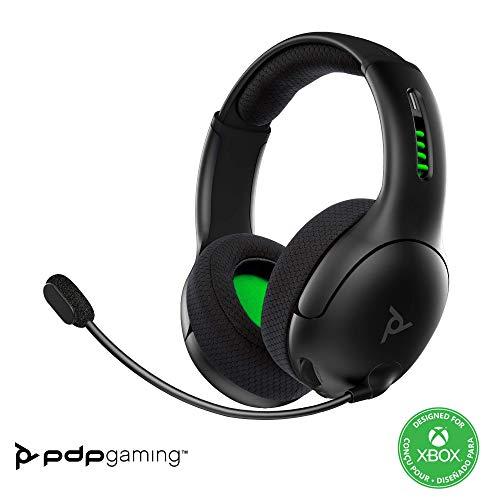 PDP LVL50 Cuffie Gaming Wireless, Per Giocare su Xbox Series X | S, Xbox One e PC Windows 10, Nero