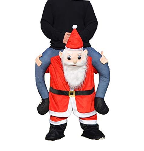 Disfraz de Pap Noel de Navidad con hombros a caballo, disfraz de mascota