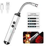 DGZZ Accendino Elettrico USB,ArcoElettrico Accendino da Cucina Accendigas Elettrico Ricaricabile con Cavo USB, Collo Lungo e 360º Flessibile Accendino Lungo per Accendere Candele,Stufe, Barbecue