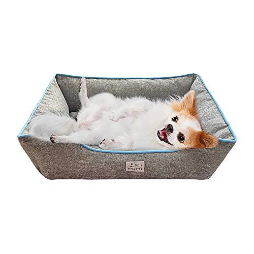 DZL- Cama de Perros y Mascotas Básica Desmontable y Extraíble Regalo Manta Perro Camas para Perros Gatos Alfombra para Mascotas (XL-72 * 92 * 22CM, Gris)