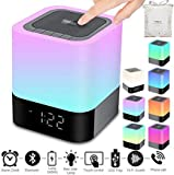 Portable Wireless Bluetooth Speaker -Big Sound,48 Led Changing Color,Light Night Lamp,Alarm Clock,MP3