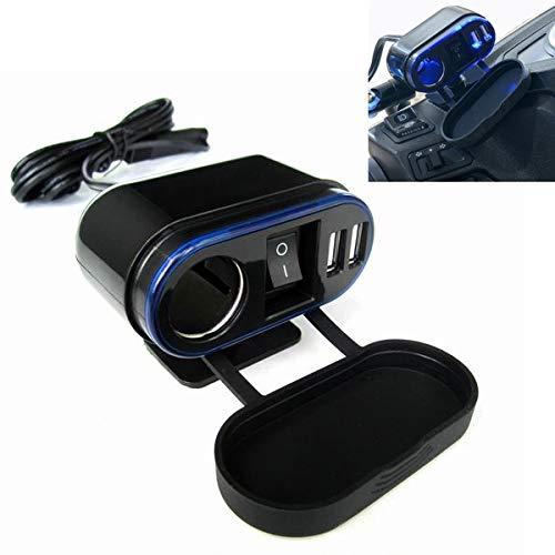 Xyamzhnn Feuerzeug Motorrad-Zigaretten Modifikation mit Doppel-USB-Auto-Ladegerät mit Schalter Steuergeräte