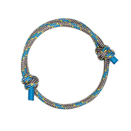 Pulsera Náutica Elegante Gris de Cuerda de la Más Alta Calidad para Hombre