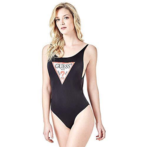 Guess Damen Badeanzug Basic, schwarz A999, Gr.S