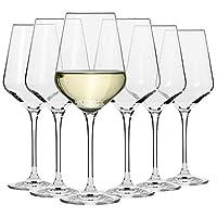 krosno grandi bicchieri calice vino bianco | set di 6 | 390 ml | collezione avant-garde | ideale per la casa, ristorante feste e ricevimenti | adatto alla lavastoviglie e al forno a microonde