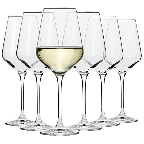 Krosno Copas de Vino Blanco | Conjunto 6 Piezas | 390 ML | Avant-Garde Collection Uso...