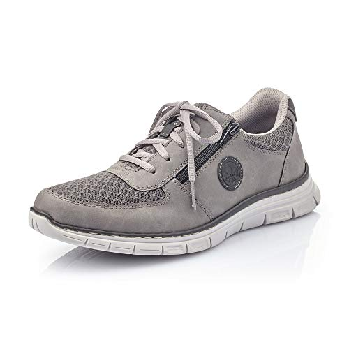 Rieker Hombre Zapatos de Cordones B4842, de Caballero Calzado Deportivo,Calzado,Calzado de Exterior,Deportivo,Ocio,Cenere,45 EU / 10,5 UK