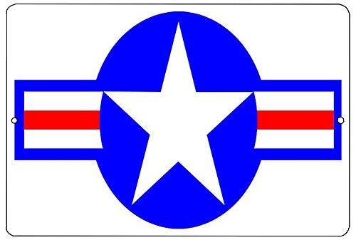 SIGNCHAT Verenigde Staten Militaire Vliegtuigen Roundel Metalen Tin Teken Muur Decor Gift Amerikaanse Metalen Tin Teken 8X12 Inch