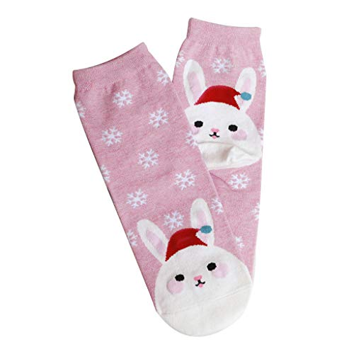 YTBD Christmas Baby Socks Fashion Cartoon Three-Dimensional Cute Christmas Stockings for Women and Girls Pink