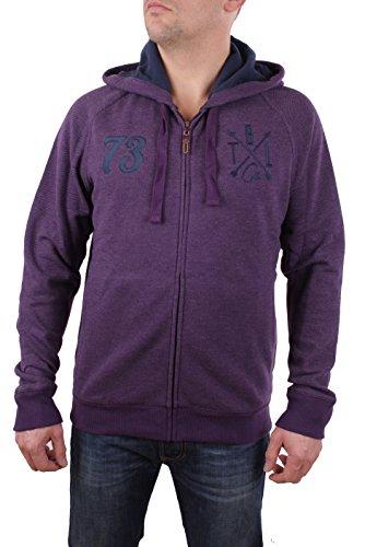 Timberland Hombres chaqueta sudadera con capucha Brown River Hoody (Medium, Purpura)