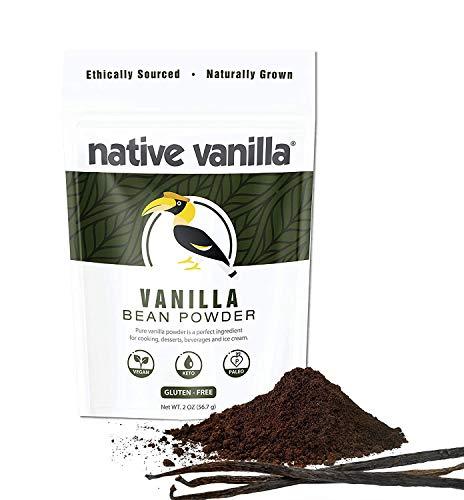Native Vanilla バニラパウダー バニラ タヒチ 自家製ベーキング アイスクリーム コーヒー 製菓 製パン 約 (56.7 g)