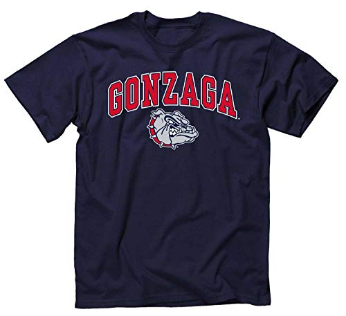 CAMPUS Farben Gonzaga Bulldogs Erwachsene Arch & Logo Gameday Shirt, Marineblau,, Herren, navy, Large