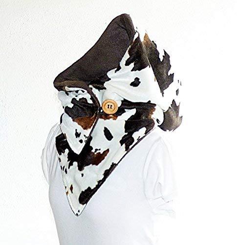 Kapuzenschal - Fellimitat mit Fleece