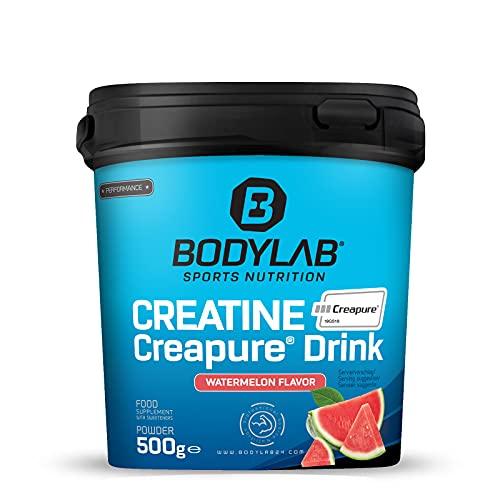 Bodylab24 Creatine Creapure® Drink Wassermelone 500g, 4g Kreatinmonohydrat in Creapure® Qualität je Pulverportion, echte Erfolgsformel für mehr Energie, Kraft und unterstützend beim Muskelaufbau