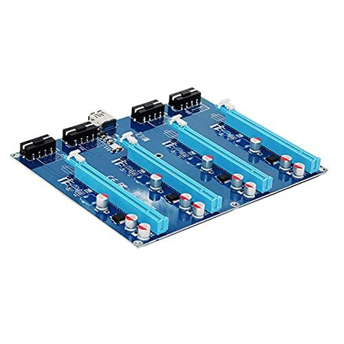 Xuebai PCI-E X1 A 4PCI-E X16 Kit de expansión 1 a 4 puertos PCI Express Switch multiplicador HUB Riser Card para BTC Miner