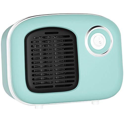 Calefactor Portátil Eléctrico Portátil, Calefactor de Aire Caliente con Sistema Antivuelco Protección Sobrecalentamiento, Mini Calentador de Cerámica, para Hogar, Sala Estar, Oficina,Azul