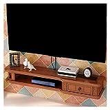 Mobiliario de dormitorio Marco de la pared de TV gabinete de TV rack Set Top-Box Plataforma flotante de almacenamiento de televisión consola de la unidad de almacenamiento en rack caja de cable de mon