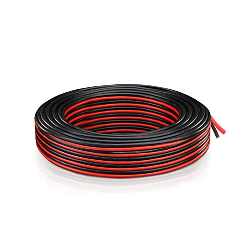 18 AWG Gauge Electrical Wire - Extension Cable 2 Cord (5.5 Meter/18 Ft Red...