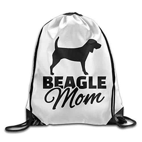Borse con coulisse Beagle Mom Unisex Sport Casual Zaino Coulisse Zaino Outdoor Borsa A Tracolla Scuola Durevole Cinch Borse Stampa Moda Studente Viaggio Accogliente